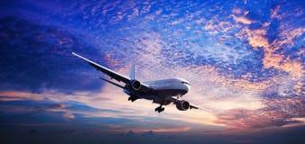 在天空的喷气机 图库摄影