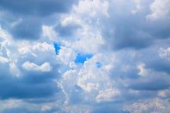 在天空的多云背景 免版税图库摄影