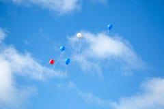 在天空的多色的气球 库存图片