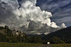 在天空的大云彩 库存照片