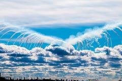 在天空的天使 免版税库存照片