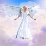 在天空的天使 皇族释放例证