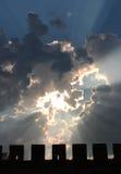 在天空的太阳 免版税库存照片