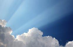 在天空的太阳 库存照片
