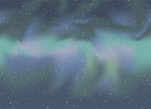 在天空的好的北极光 免版税库存照片