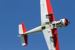 在天空的小体育飞机 库存图片