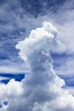 在天空的小参天的积云 库存照片