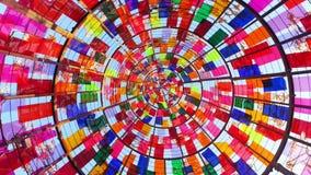 在天空的彩虹漩涡 免版税库存照片