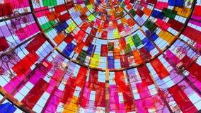 在天空的彩虹漩涡 免版税库存图片