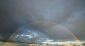 在天空的彩虹 库存图片