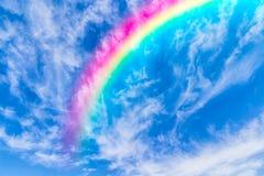 在天空的彩虹 免版税图库摄影