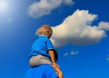 在天空的愉快的系列 免版税库存照片