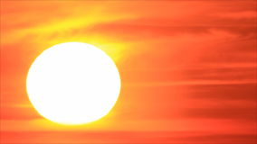在天空的日出太阳 股票录像