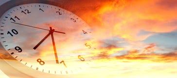 在天空的时钟 库存图片