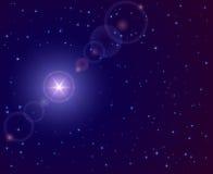 在天空的星形 免版税库存图片