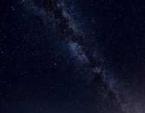 在天空的星系 免版税库存图片