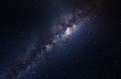 在天空的星系 免版税库存照片
