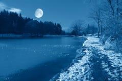在天空的月亮 免版税库存照片