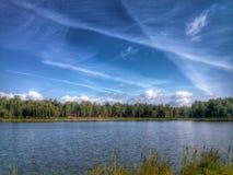 在天空的条纹 免版税图库摄影