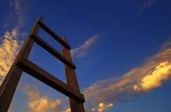 在天空的梯子 库存图片