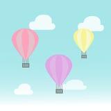 在天空的气球 图库摄影