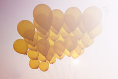 在天空的气球 库存图片
