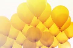 在天空的气球 库存照片
