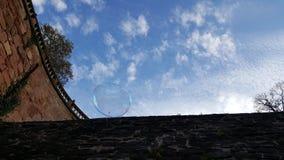 在天空的泡影 免版税库存图片