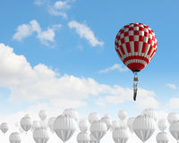 在天空的浮空器 免版税图库摄影