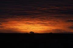 在天空的火在大峡谷上 免版税库存图片