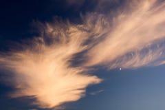 在天空的火 免版税图库摄影