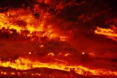 在天空的火 免版税库存图片