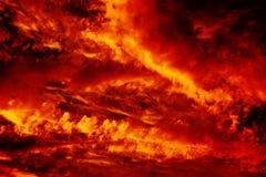 在天空的火 库存图片