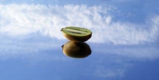 在天空的猕猴桃 免版税库存照片