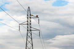 在天空的电力在泰国 库存照片