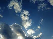 在天空的积雨云 图库摄影