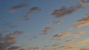 在天空的移动的云彩 股票视频