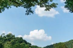 在天空的空白云彩 库存图片
