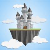 在天空的童话城堡 库存照片