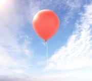 在天空的红色气球 图库摄影