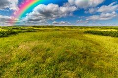在天空的美丽的彩虹 免版税图库摄影