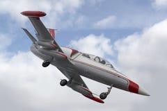 在天空的航空器 免版税图库摄影