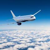在天空的航空器 图库摄影