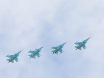 在天空的苏-34 免版税库存图片
