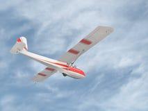 在天空的葡萄酒滑翔机 免版税库存照片