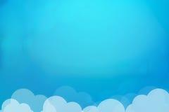 在天空的蓝色云彩 库存图片
