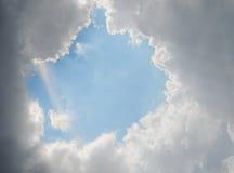 在天空的视窗 库存照片