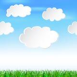 在天空的讲话云彩 免版税库存图片