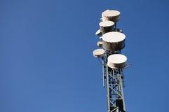 在天空的通信站 库存照片