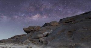 在天空的银河 免版税图库摄影